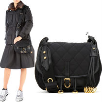 PR122 CORSAIRE BAG IN QUILTED NYLON AND LEATHER