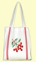 ★The Red & White Kitchen★Cherry Tile トートバッグ