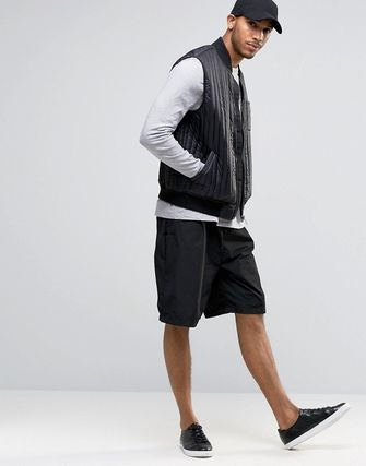 ASOS Quilted Gilet With Chest Pocket In Black