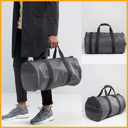 【RiverIsland】 Holdall With Quilted Detail In Grey