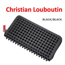 Christian Louboutin☆Panettone スパイク 長財布 All Black