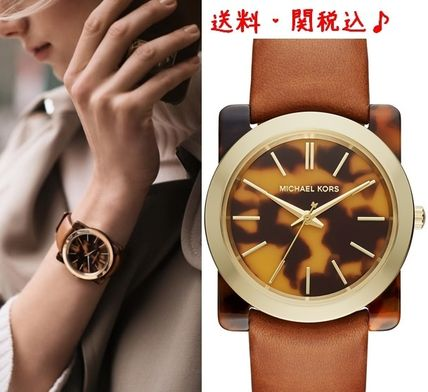 Introducing MK tortoiseshell leather watches in limited sale