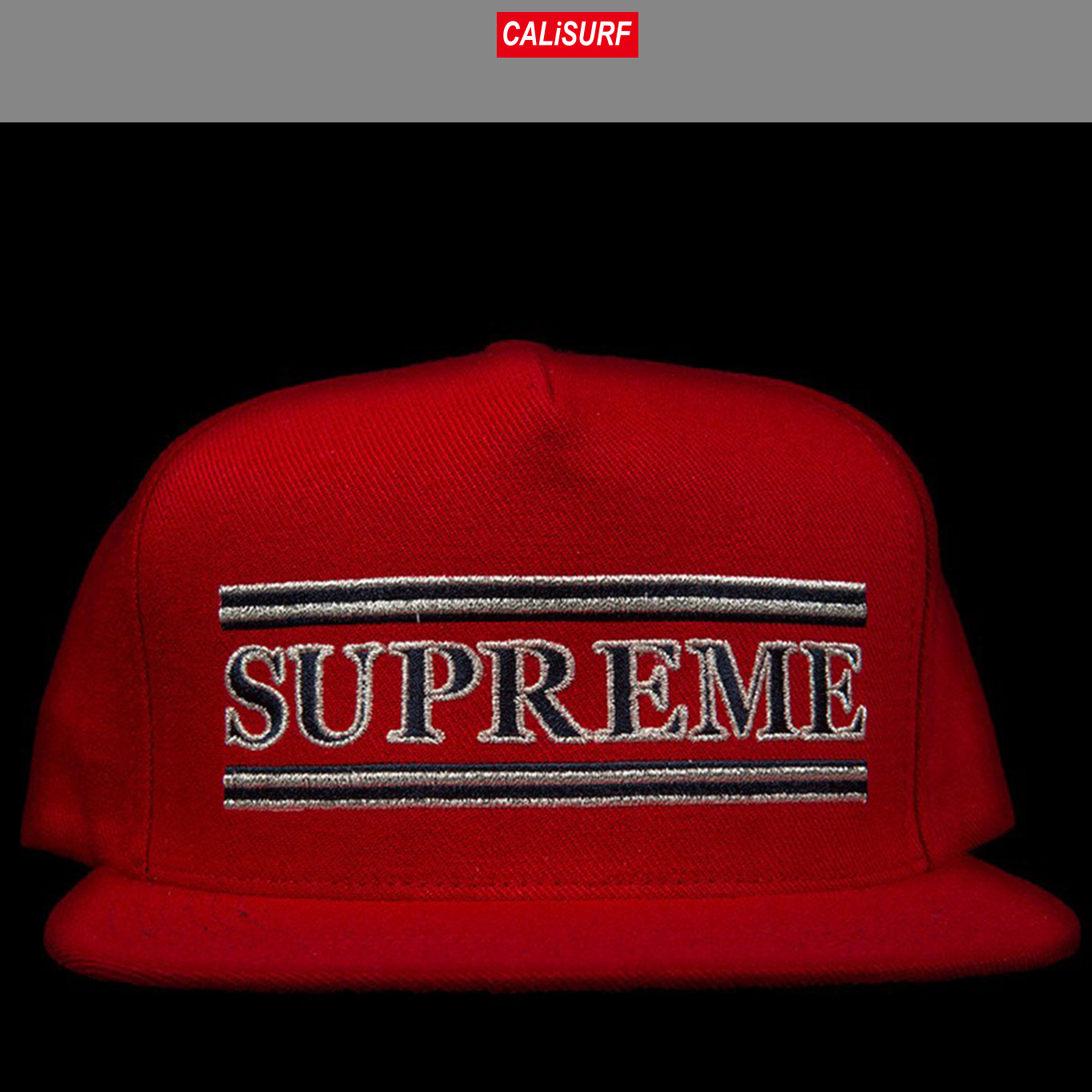 FW2016 Supreme シュプリーム TRIPED 5 PANEL CAMP CAP RED