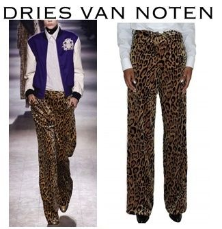 16AW新作 DRIES VAN NOTEN Picabis 5 Pocket Animalier Pant