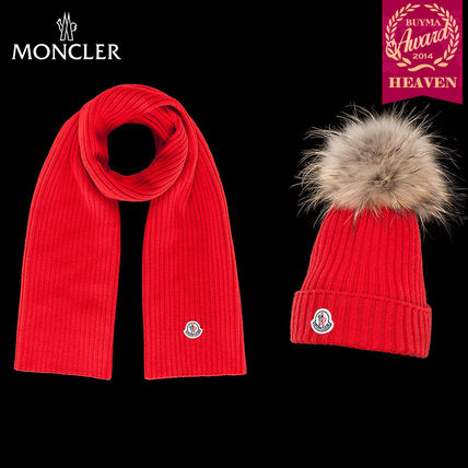 TOPセラー賞!16/17秋冬┃MONCLER_8-10歳_HAT AND SCARF┃レッド