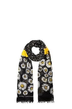 Marc Jacobs/Daisies Oblong Silk Scarf★人気のデイジー柄★黒