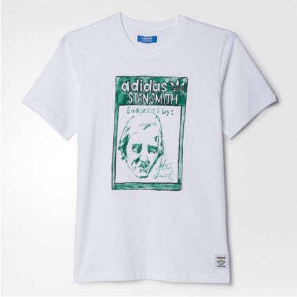 adidas Tシャツ・カットソー ★adidas★ARTIST STAN SMITH TONGUE LABEL TEE(2)