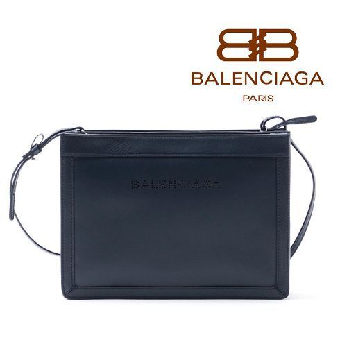 16秋冬 ☆Balenciaga☆ Leather NAVY S POCHETTE  BLUE OBSCUR♪
