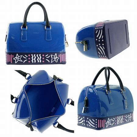 16秋冬 ☆FURLA☆ CANDY M Satchel ボストンバッグ BLUETTE♪