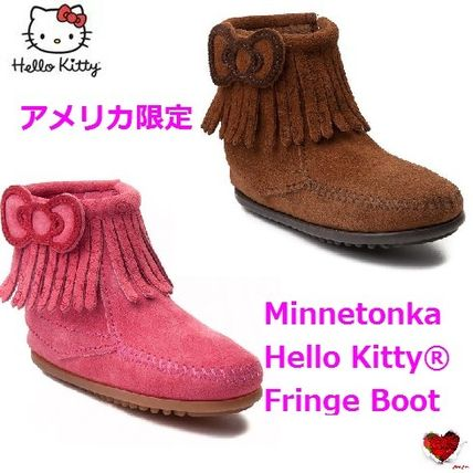 アメリカ限定  Youth Minnetonka Hello Kitty Fringe Boot