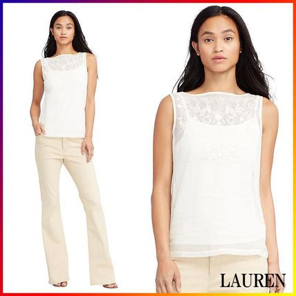 RALPH LAUREN☆EMBROIDERED TULLE TOP 関税/送料込