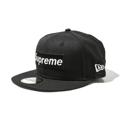 国内発送 黒 Supreme R.I.P Box Logo New Era Cap シュプリーム