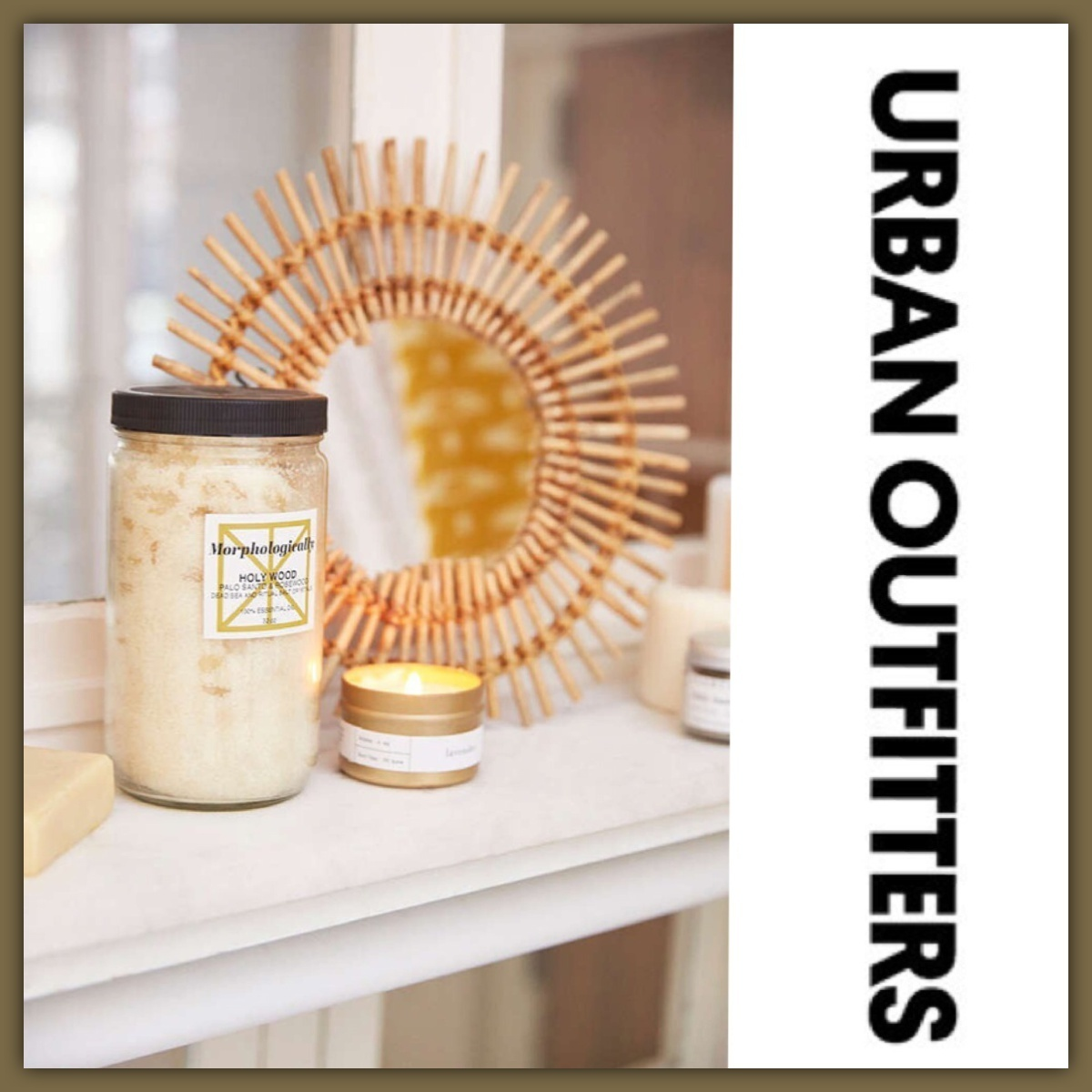 US限定*Urban Outfitters*Magical Thinking ラタン額ミラー