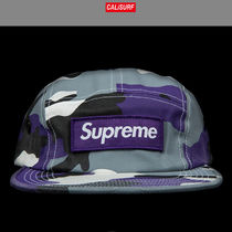 FW2016 Supreme シュプリームCAMO CAMP CAP PURPLE CAMO