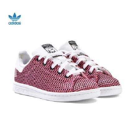 ADIDAS ★ Pink Textured Stan Smith Trainers