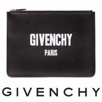 GIVENCHY(ジバンシィ) クラッチバッグ [GIVENCHY] 2016AW新作!クラッシュ加工 ロゴレザークラッチ