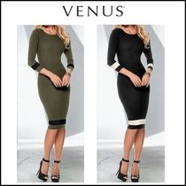 Venus*COLOR BLOCK SWEATER DRESS