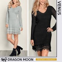 Venus*LACE HEM DRESS