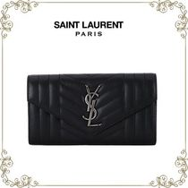 【16AW】★Saint Laurent★Monogram 財布L(ブラック)