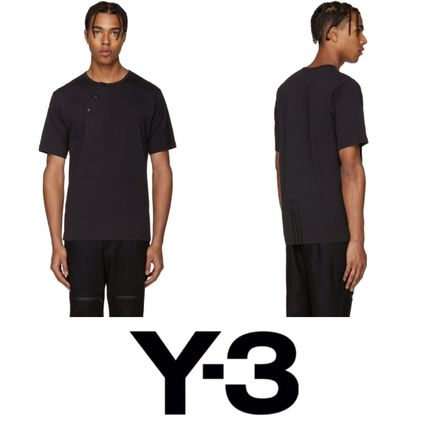 2016! 即完売! Y-3 Black Button T-Shirt