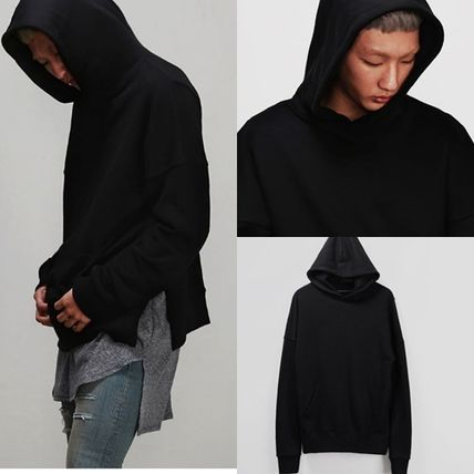 *送料無料*DROP SHOULDER SIDE SLIT PULLOVER HOODIE*