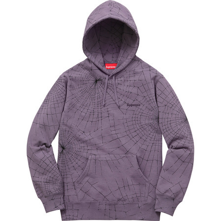 入荷SUPREME16AW★Spider Web Hooded Sweatshirt