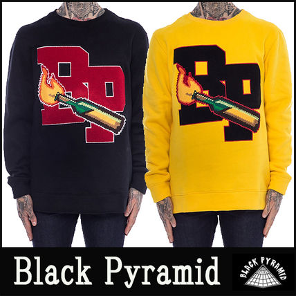 "16-17AW 新作 ""Black Pyramid"" BP MOLOTOV トレーナー"
