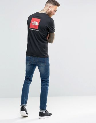 The North Face T-Shirt With Red Box Logo In Black