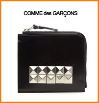 COMME des GARCONS(コムデギャルソン) 折りたたみ財布 【国内発送】 COMME DES GARCONS スタッズ レザー財布