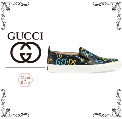Gucci ghost popular print * Slip-on sneakers