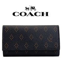 Coach(コーチ) キーケース・キーリング 大人気★上質レザー使用【Crossgrain Leather Key Case 4 Ring】
