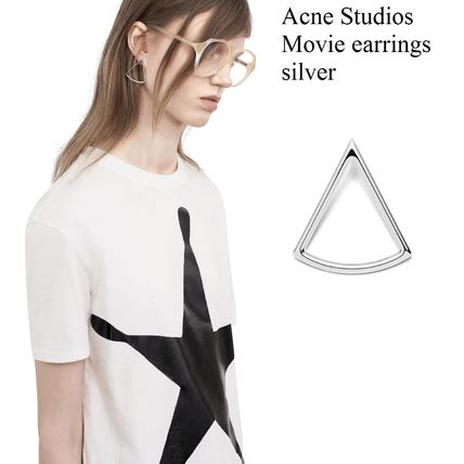 ACNE Movie earrings silver triangle graphic earrings silver