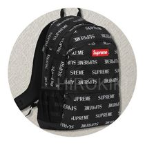 【送料込】16AW★Supreme 3M Reflective Repeat Backpack 黒