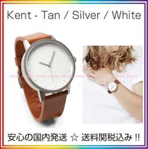 Simple Watch Co(シンプルウォッチカンパニー) アナログ腕時計 送料/税込【Simple Watch Co】本革☆Tan/Silver/White♪国内発送