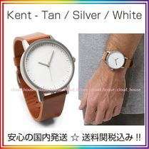 Simple Watch Co(シンプルウォッチカンパニー) アナログ時計 送料/税込【Simple Watch Co】本革☆Tan/Silver/White♪国内発送