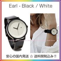 Simple Watch Co(シンプルウォッチカンパニー) アナログ腕時計 送料/税込【Simple Watch Co】本革☆Black / White♪国内発送
