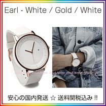 Simple Watch Co(シンプルウォッチカンパニー) アナログ腕時計 送料/税込【Simple Watch Co】本革☆White/Gold/White♪国内発送