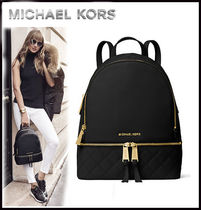 MICHAEL KORS ★RHEA MEDIUM QUILTED-LEATHER BACKPACK 国内発送
