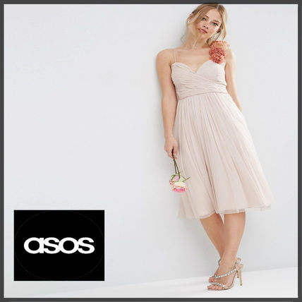 ASOS WEDDING Ruched Midi Dress★二次会やパーティに★