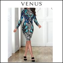 Venus*MOCK NECK PRINT DRESS