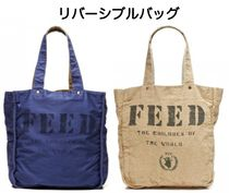 FEED(フィード) トートバッグ 国内発送 フィード*FEED リバーシブル トートバッグ NAVY