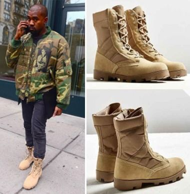 KanyeWest boots Rothco Jungle Boots jungle boots