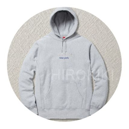 【送料込】S-XL/Supreme Chrome Classic Logo Hooded Sweatshirt
