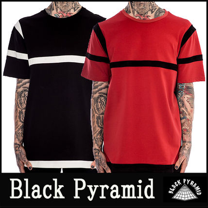 "16-17AW 新作 ""Black Pyramid"" CONTRAST STRIPED Tシャツ"