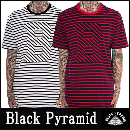 "16-17AW 新作 ""Black Pyramid"" SLANTED STRIPE B Tシャツ"