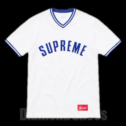 FW16 SUPREME VELOUR BASEBALL TOP WHITE S-XL 白 送料無料
