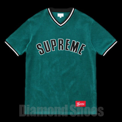 FW16 SUPREME VELOUR BASEBALL TOP TEAL ティール S-XL 送料無料