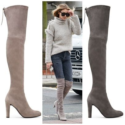 Gigi boots HIGHLAND popular charcoal and taupe