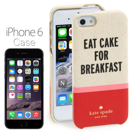 kate spade new york iPhone・スマホケース ケイトスペード iPhone6専用 EAT CAKE FOR BREAKFAST BE/RD