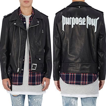 "16AW新作 FEAR OF GOD fog""Purpose Tour"" Leather Moto Jacket"